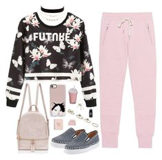 """future"" by ishipbullshit ❤ liked on Polyvore featuring Charlotte Russe, Sincerely, Jules, WithChic, Christian Louboutin, Casetify, Dorothy Perkins, Givenchy, Christy, contest and sweatpants"