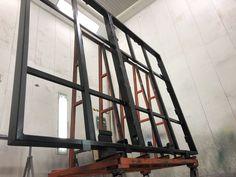 Stahlrahmen als Boden für den Erker Steel Frame, Floor