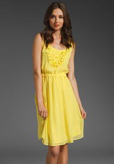 TRINA TURK Juliana Dress in Lemon at Revolve Clothing - Free Shipping!