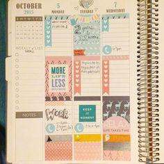 Weekly spread #plannerlove #stickers #mambi #plumpaperplanner #ec #erincondren #planneraddict #plannerstickers by sweetlavenderco
