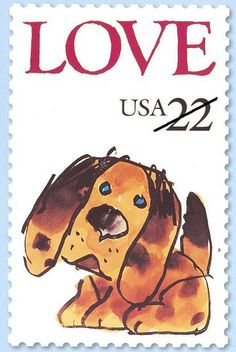 First Day of Issue - Love Stamp - Puppy