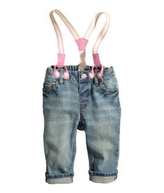 H - baby girl - jeans w/ suspenders