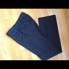 """APT 9 Black Pinstriped Dress Pants Apt. 9 black pinstriped dress pants.  29/32.  Polyester/rayon blend material.  Rise 10"""".  Excellent, new condition. Apt. 9 Pants Trousers"""