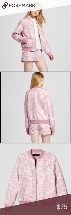 Victoria Beckham for Target bomber jacket Brand new with tag. Pink jacquard bomber jacket. Victoria Beckham Jackets & Coats