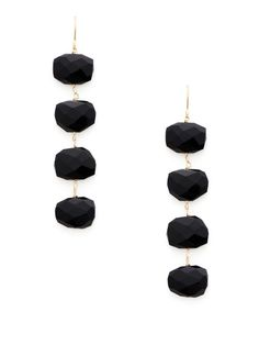 Faceted Black Spinel Multi-Drop Earrings by Alanna Bess Jewelry on Gilt