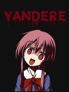 'Yandere - Gasai Yuno - Mirai Nikki' T-Shirt by Jake Hunter - Shounen And Trend Manga Yandere Manga, Yandere Girl, Anime Girl Neko, Animes Yandere, Mirai Nikki Future Diary, Super Anime, Haikyuu, Gothic Anime, Manga Anime
