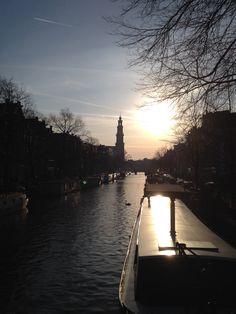 Westerkerk in het herfstzonnetje.