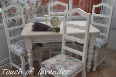 Stunning Shabby Chic Chunky Farmhouse Dining Table And 4 Chairs Wood White