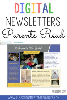 Elementary teachers share tried and true resources tested in our own classrooms - Classroom Tested Resources Classroom Newsletter, School Newsletters, Online Newsletter, First Year Teachers, Parents As Teachers, School Classroom, Google Classroom, Classroom Ideas