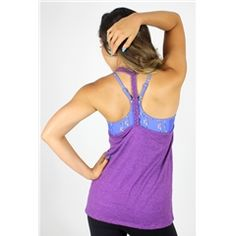 Train Insane Braided Tank in Purple Heather/Blue