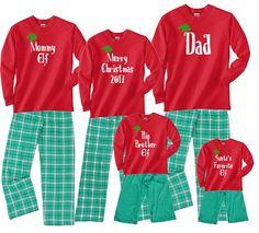 46dfdfa18 Personalized Custom Text Family Matching Christmas Pajamas - Fun Holiday PJ  Outfits - Christmas Morn Adult