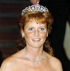 Sarah Ferguson's wedding tiara, a gift from her in-laws.