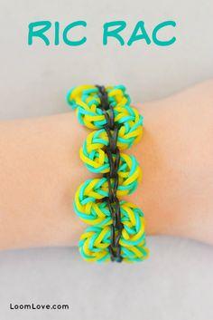 How to make a Rainbow Loom Ric Rac Bracelet