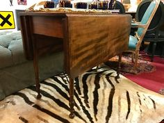 """Antique Mid 19th Century Drop Leaf Table With Turned Legs   Closed is 18"""" Wide x 39"""" Deep x 29"""" High   Each Leaf Is An Additional 14.5"""" Wide   $445  #89040  Rick's Antiques and Home Decor, Dealer #36  White Elephant Antiques  1026 N. Riverfront Blvd. Dallas, TX 75207"""