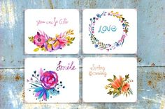 Big watercolor floral collection - Illustrations - 3