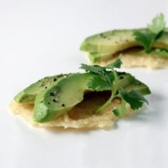 Parmesan Crisps with Avocado