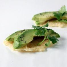 Parmesan Crisps with Avocado