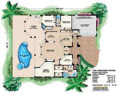 Verandah Home Plan-Waterfront House Plans
