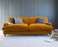 loaf pudding sofa zuhause kreativ sofas couches armlehnen angebrannte orange