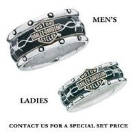 Sterling Silver Harley-Davidson Men's Rumble & Roll Ring