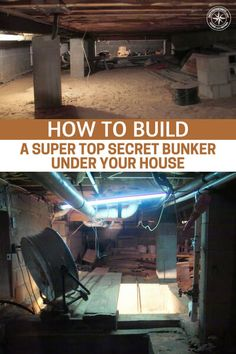 Can't afford a regular bunker? Build a top secret bunker under your own house. This artilce shows you how a man is making a secret bunker under his house. Underground Living, Underground Shelter, Underground Homes, Underground Bunker Plans, Secret House, Secret Rooms, The Secret, Doomsday Bunker, Hidden House