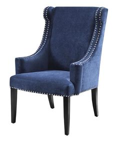 Take a look at this Black Noir & Royal Blue Accent Chair $219 by JLA Home on #zulily today!  Deliver by Christmas. Refer a friend to Zulilly...you will earn $15.00 and so will your friend after 1st purchase!