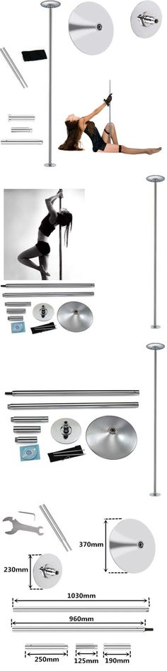 Dance Poles and Accessories 179805: 45Mm Professional Dance Pole Fitness Portable Static Spin Exercise Loss Weight BUY IT NOW ONLY: $69.99