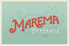 Marema, una tipografía vintage para titulares
