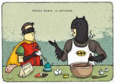 Frases, chistes, anécdotas, reflexiones, Amor y mucho más.: Chiste de Batman y Robin, pasame la batidora Robin.