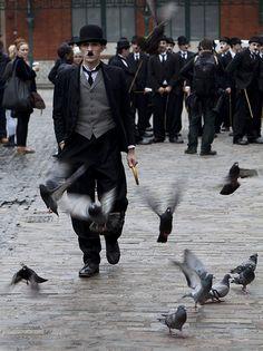 Charlie Chaplins in Covent Garden