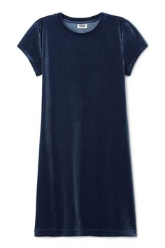 Weekday Fray Short Sleeve Dress in Blue Dark