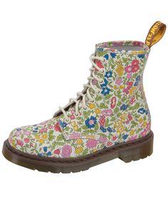 @libertylondon x @drmartens! #Jubilee Martin's Flower Liberty Print 8 Hole Boots, Dr. Martens.