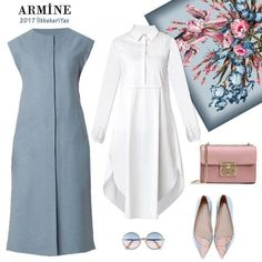 Simple and smart Simple and smart Muslim Fashion, Modest Fashion, Hijab Fashion, Girl Fashion, Fashion Dresses, Fashion Clothes, Modest Clothing, Modest Dresses, Modest Outfits