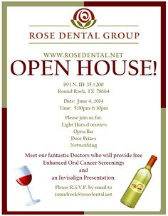Business Event Invitations ~ Open House | Green business ...