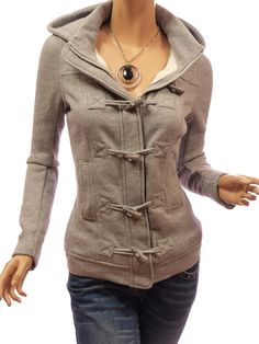 Patty Women Casual Hooded Zip Toggle Closure Jacket   $49.59
