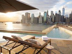 1 Hotel Brooklyn Bridge Brooklyn, New York Arts + Culture Attractions Boutique Hotels Food + Drink Hotels Trip Ideas sky leisure swimming pool property condominium Villa
