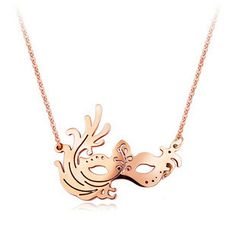 Cartier Pink Gold Venice Mask Necklace