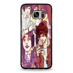 Harry Styles beanie collage Samsung Galaxy S7 Edge Case | yukitacase.com