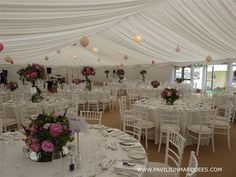 A Passion for Flowers in a Beautiful Bespoke Wedding Marquee,wedding by Elegant Events and flowers by appassionata, marquee built by Pavillion Marquee Hire, Marquee Wedding, Wedding Decorations, Table Decorations, Wedding Ideas, Rugby Club, Centre Pieces, Colored Paper, Paper Lanterns