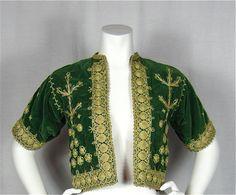 Vintage 50s Green Velvet Asian or Middle Eastern Jacket,