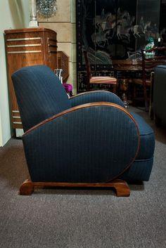 Club Chair 1930's Vintage Art Deco Chair by lavintagefurnishings