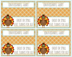 Thanksgiving Bag Topper  Great or Small Give by Pinkowlpartydesign