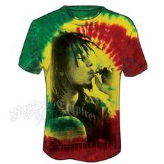 BOB MARLEY SUBLIMATION FRONT PRINT T-SHIRT//Smoke//Cannabis Leaf//Swag Dope//Tee//Top