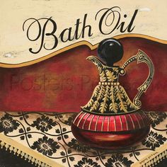 Bath Oil Art Print Poster by Gregory Gorham Online On Sale at Wall Art Store – Posters-Print.com