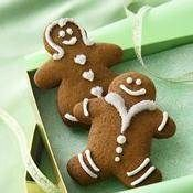 Gingerbread Cookies recipe from Betty Crocker / gingerbread Flopsy bunnies - I used a rabbit shaped cookie cutter and currants for eyes. I skipped the frosting. My son loves these.
