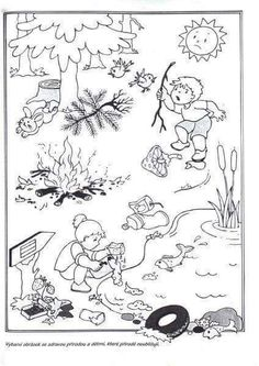Co nepatří do lesa? Earth Day Coloring Pages, Coloring Pages For Kids, Preschool Education, Teaching Kids, Daily Schedule Kids, Picture Comprehension, Picture Composition, Earth Day Activities, Outdoor Education