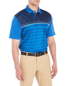 Jack Nicklaus Stripe Short Sleeve Polo