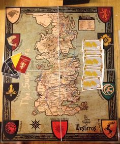 Game of Thrones Ticket to Ride: Westeros Edition would be perfect for the O/H Catan Board, Playing Card Games, Ticket To Ride, Yard Games, Kids Board, Diy House Projects, Craft Organization, Art Studios, Project Ideas