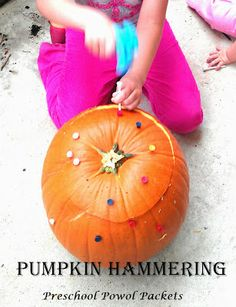 Pumpkin Hammering from Preschool Powol Packets