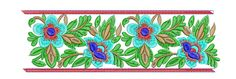 A beautiful and Big hoop Embroidery Border Design from EmbroideryShristi Border Embroidery Designs, Border Design, Big